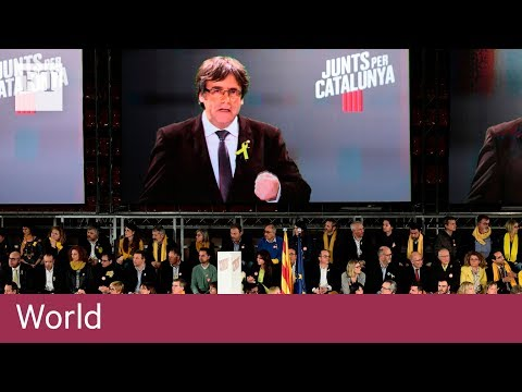 Carles Puigdemont plans to lead Catalonia by Skype