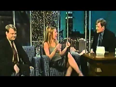Rebecca RomijnStamos kisses Conan O'Brien  Suck and Blow