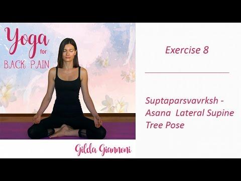 suptaparsvavrkshasana lateral supine tree pose  yoga for