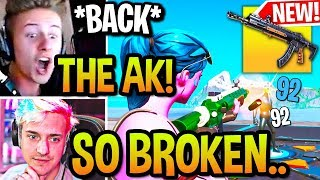 STREAMERS USING *NEW* HEAVY AR (GOLD AK) BACK in Fortnite! (GAMEPLAY)
