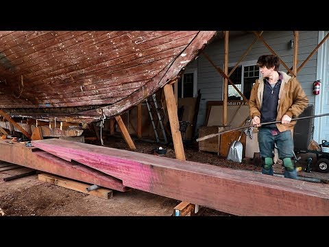 Cutting and Fitting a Keel Timber Scarph Joint - Rebuilding Tally Ho EP14.PART2.