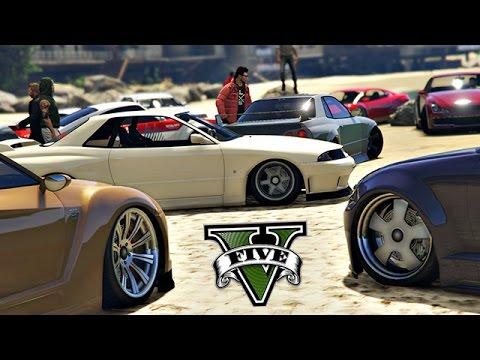 GTA V   Stance Car Meet   Cruising/JDM/Car Show...