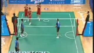 Aksi-aksi Pemain Malaysia vs Korea Selatan [Sepaktakraw Separuh Akhir Berpasukan] Sukan Asia 2010