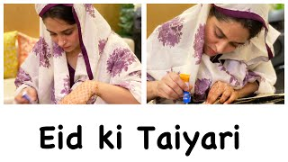 EID KI TAIYARI | OUTFIT RECREATION | HOW TO MAKE HENNA PASTE FOR HANDS | DIPIKA KAKAR IBRAHIM