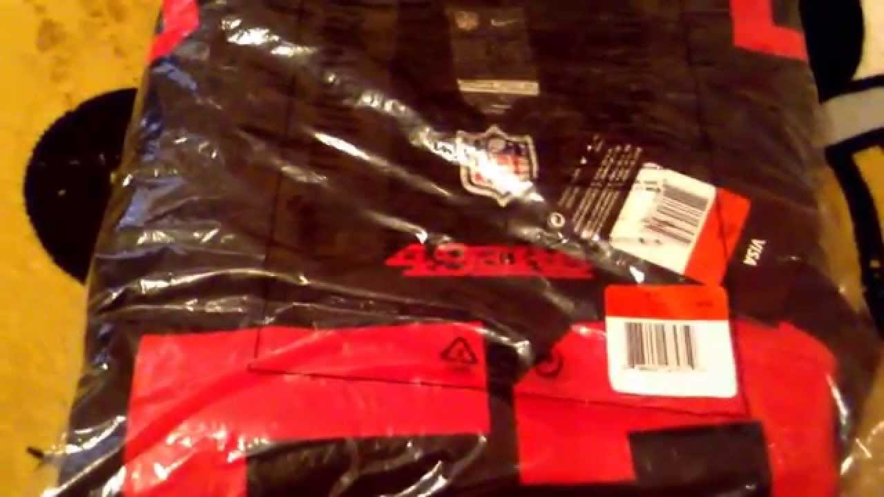 65aa4c7b2 San Francisco 49ers Black Alternate Jersey Unboxing and Review - YouTube