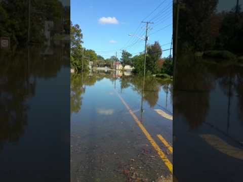 Tarboro, NC under flood aftermath from Hurricane Mathew