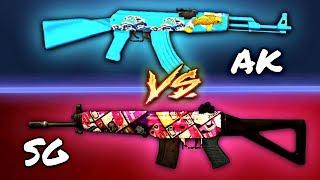 AK vs SG ~ Critical  Ops • Best Gun