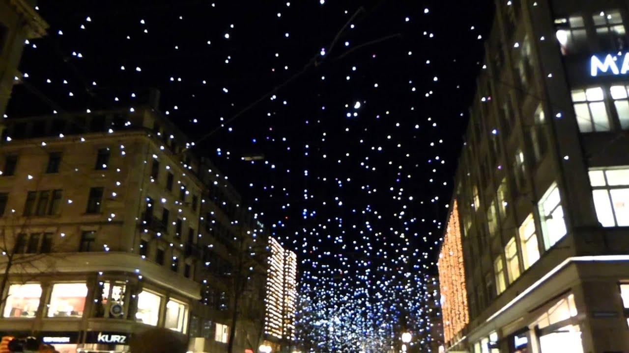 Bahnhofstrasse Christmas Lights And Market Youtube