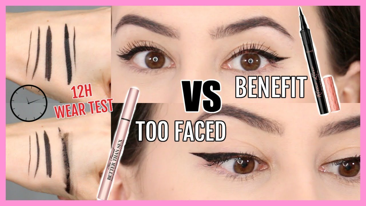 cfebcf447b9 *NEW* Best Eyeliner? Benefit Roller Liner VS Too Faced Better Than Sex  Eyeliner Review