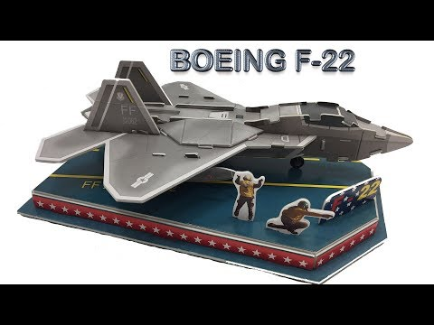 3D Puzzle DIY, Assembly the Boeing F-22 Raptor