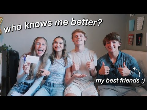 WHO KNOWS ME BETTER ft. my best friends! thumbnail