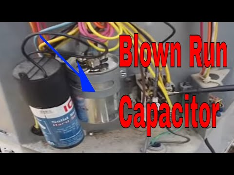 Hvac Service Blown Dual Run Capacitor Youtube