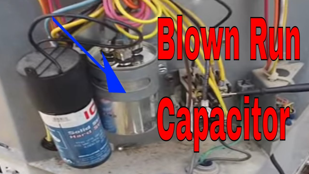 hvac service blown dual run capacitor compressor thermal overload [ 1280 x 720 Pixel ]