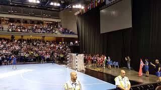 U20 Női kézilabda döntő - A győzelem utáni ünneplés