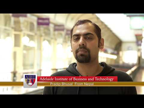 Adelaide Institute of Business and Technology (AIBT) - student Pradip from Nepal