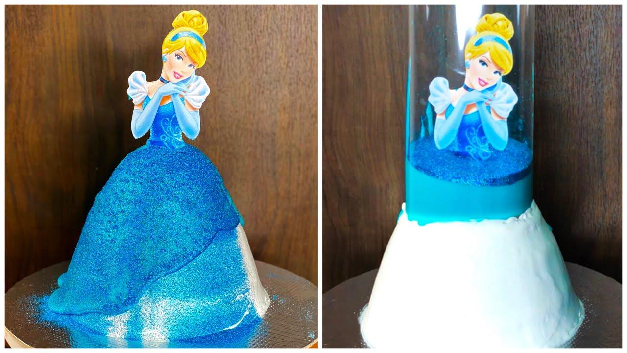 Pull Me Up Cinderella Doll Cake Recipe Tsunami Cake Trending Doll Cake Disney Princess Youtube
