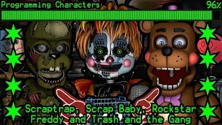 How will Scraptrap, Scrap Baby, Rockstar Freddy and The Trash Gang work in Ultimate Custom Night?