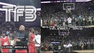 Chris Brown assists Guy Dupuy at RocNation Celebrity Game DUNK CONTEST Video