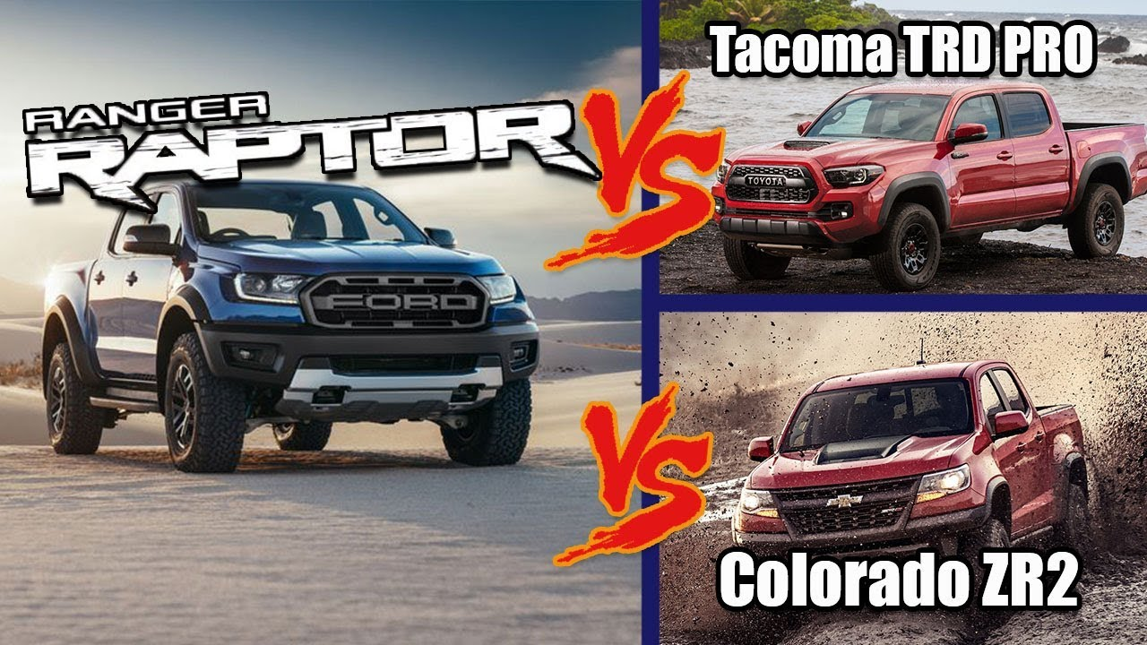 Ford Shelby F150 >> Ford Ranger Raptor vs Chevy Colorado ZR2 vs Toyota Tacoma TRD Pro | Everything We Know - YouTube