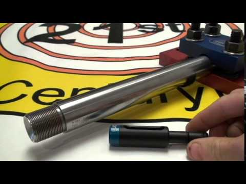 21st century shooting barrel vice and barrel off bore guide youtube