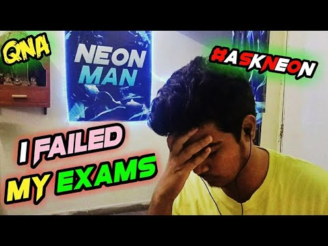 I *FAILED* IN EXAM DUE TO YOUTUBE ? NEON MAN QNA #AskNeon | FaceCam | 100K Special |