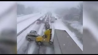 Caught on Cam: Moment of huge pileup on Ontario's Hwy. 401