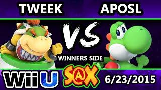S@X 103 - Tweek (Bowser Jr.) Vs. VGBC | Aposl (Yoshi) - Smash Wii U - Smash 4