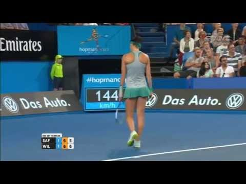 Williams-Safarova last games Hopman cup 2015 Perth