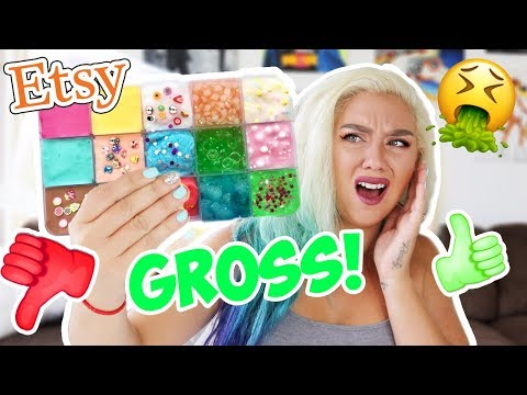MIXING ALL MY ETSY SLIME PALLETS! ! WORST SLIME EVER?