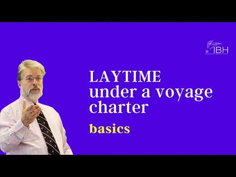 Laytime calculation in a voyage charter | IBH virtual room | Jeffrey Blum