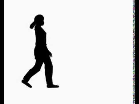 Silhouette Girl Walking