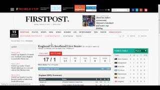 World Cup 2015,England vs. Scotland - Live Cricket Score Match 14 Highlight On FEB 23