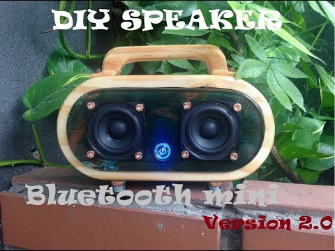 Bluetooth mini speaker DIY with pine pallet with epoxy resin glue // ver.2