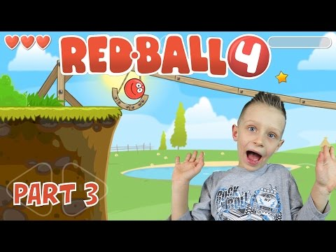 RED BALL4, levels 8-11 - follow my red ball as I complete more levels | KID GAMING Android