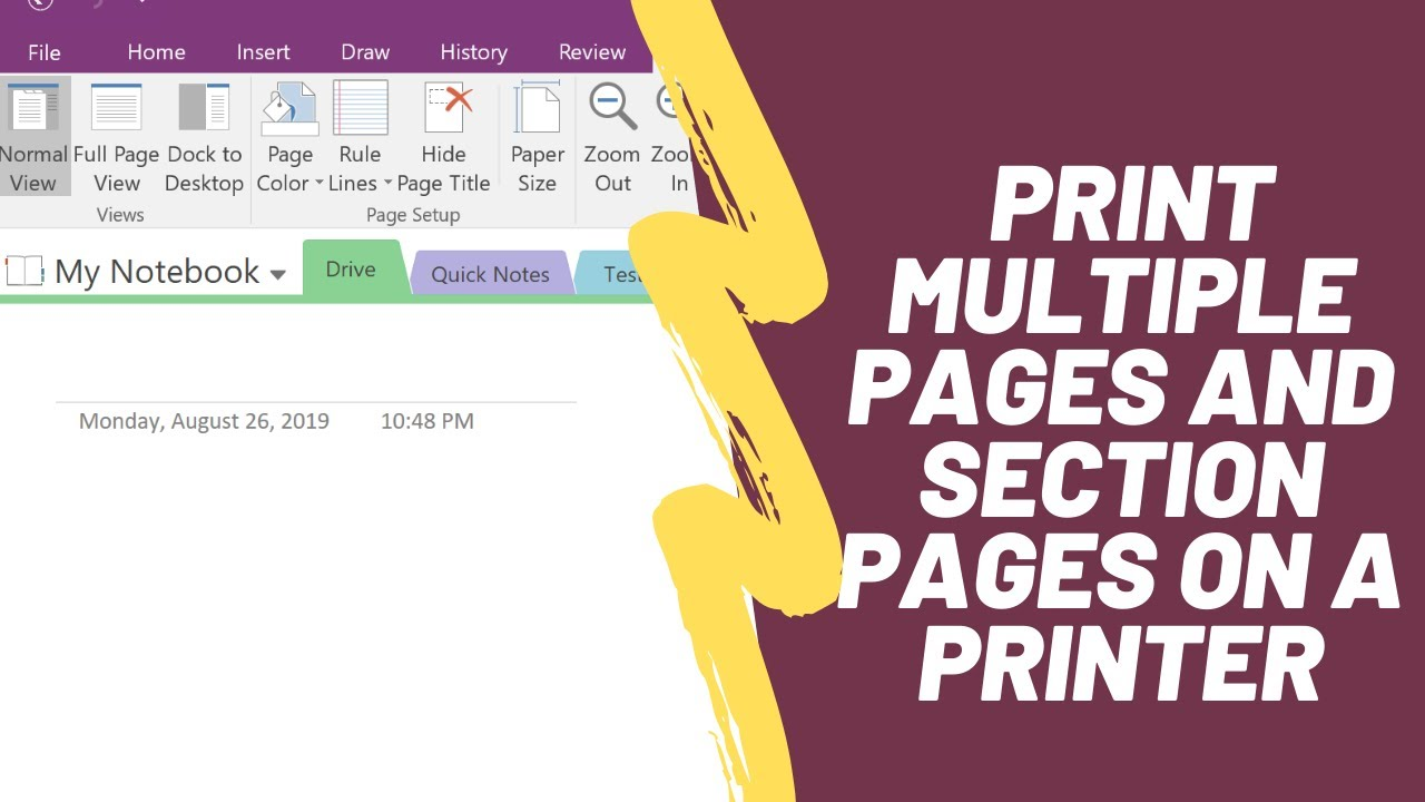 How to Print Multiple Microsoft OneNote Pages and Section Pages on a Printer