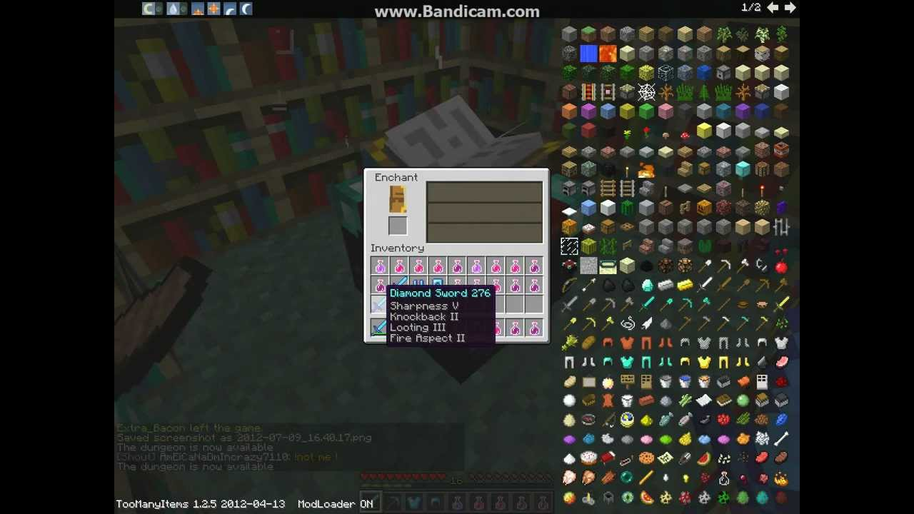 Minecraft The Best Sword Enchant possible - YouTube