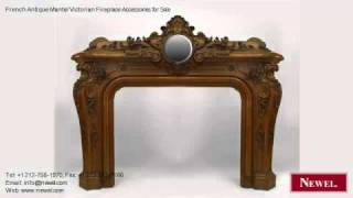 French Antique Mantel Victorian Fireplace Accessories For