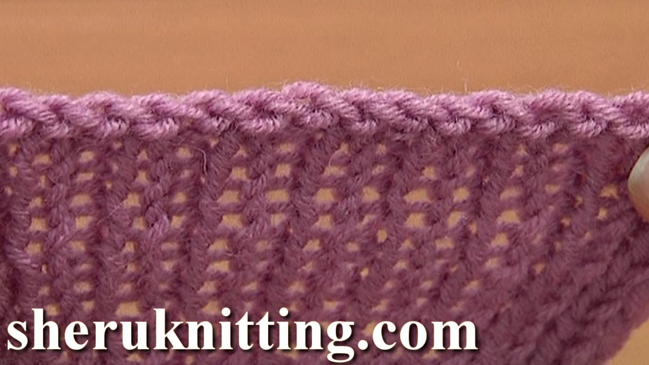 Knitting How To Bind Off Scarf : Sewn bind off cast in knitting tutorial method of
