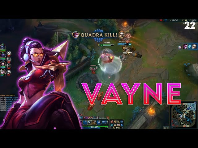 Vayne Montage 22 - Insane Vayne - League of Legends