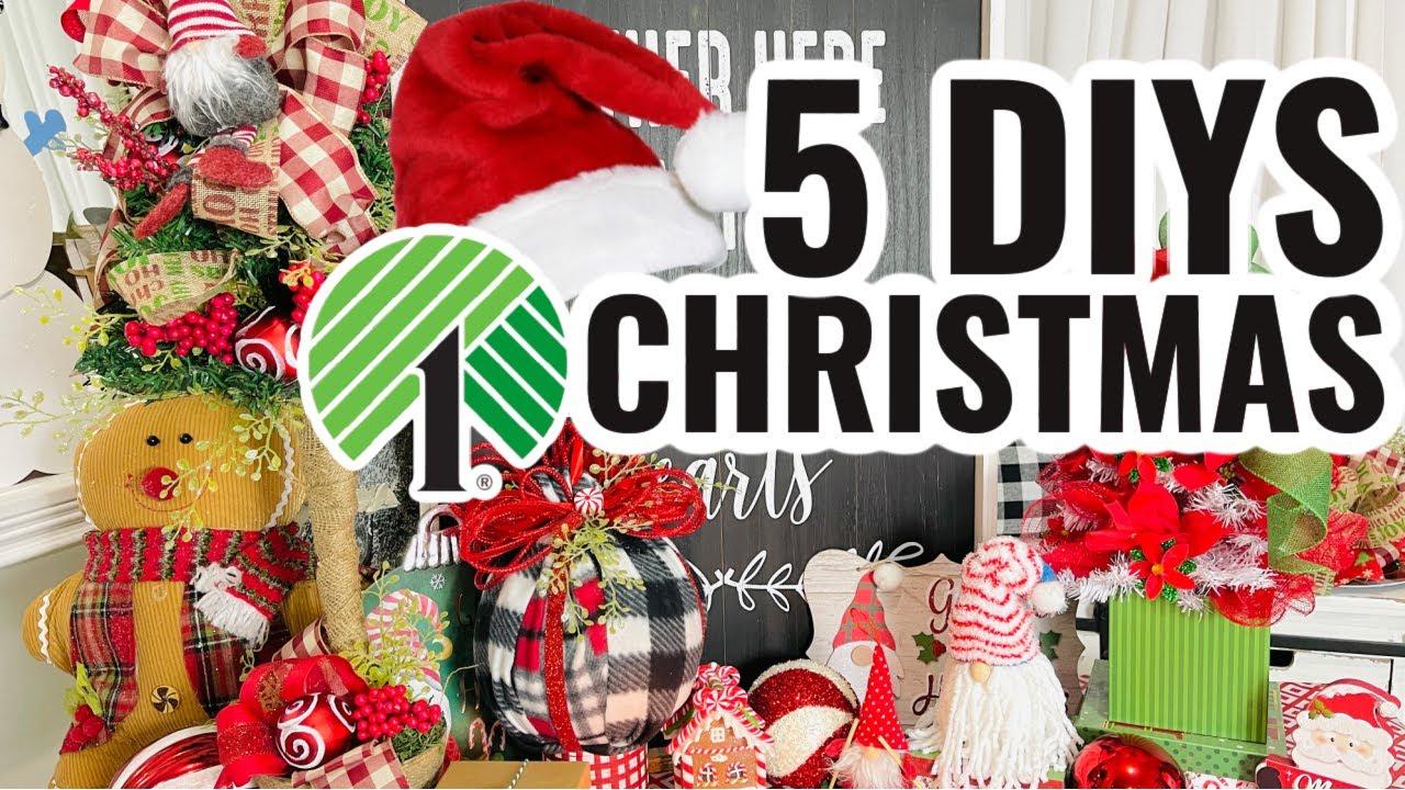 "Download 🌲5 DIY DOLLAR TREE DECOR CRAFTS~CENTERPIECE 🌲 Ep. 10 ""I love Christmas"" Olivia's Romantic Home DIY"