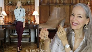 Favorites, January: Tops, Jeans, Booties, Flats, Bag, Lipstick  / Classic Fashion, Style Over 40, 50