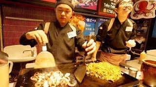 SUCCULENT Japanese STREET FOOD Tour of Dotonbori - Takoyaki, Okonomiyaki, Yakitori | Osaka, Japan