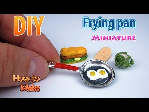 DIY Realistic Miniature frying pan | DollHouse | No Polymer Clay!