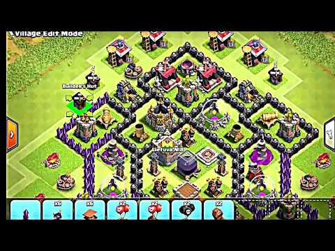Clash Of Clans Town Hall 8 Defense CoC TH8 BEST Trophy Base Layout Defense Strategy 2017