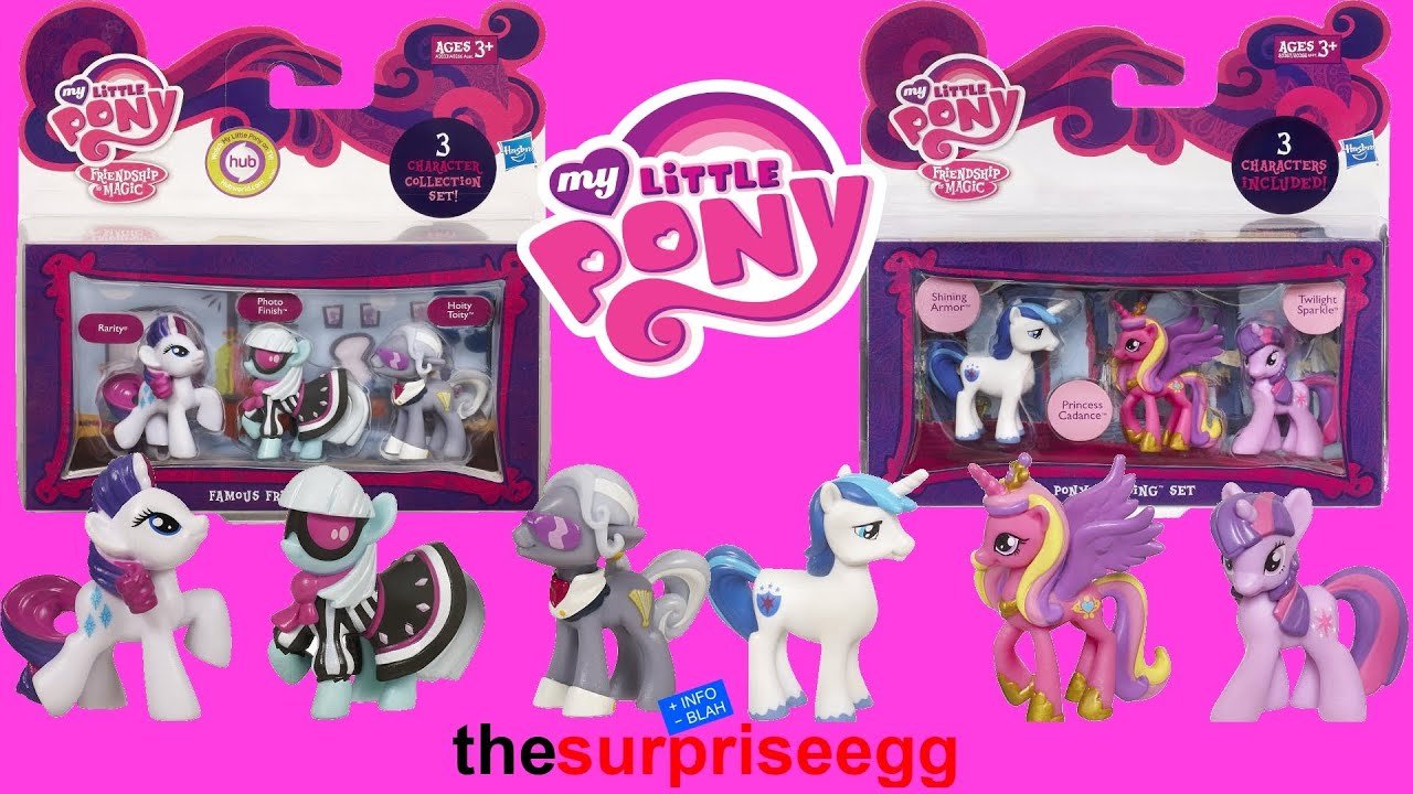 My Little Pony Wedding Set And Famous Friends Unboxing Toys You