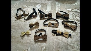 DIY wooden bow tie for men - laser cutting