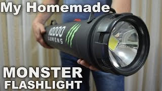 Monster 10,000 Lumens 1000w equiv.LED Flashlight