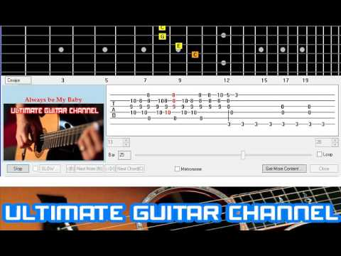 Guitar Solo Tab Always Be My Baby David Cookmariah Carey Youtube