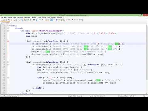 HTML5 - Web SQL