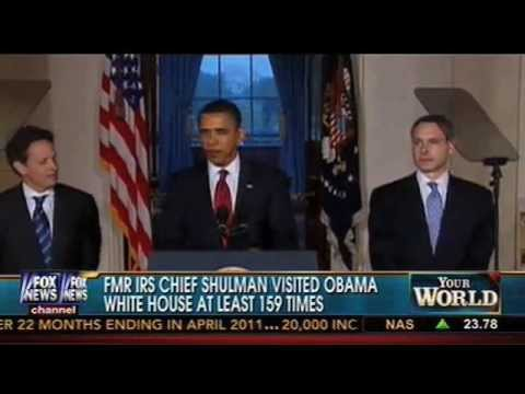 Former head of the IRS Douglas Shulman visited the White House at least 159 Times....